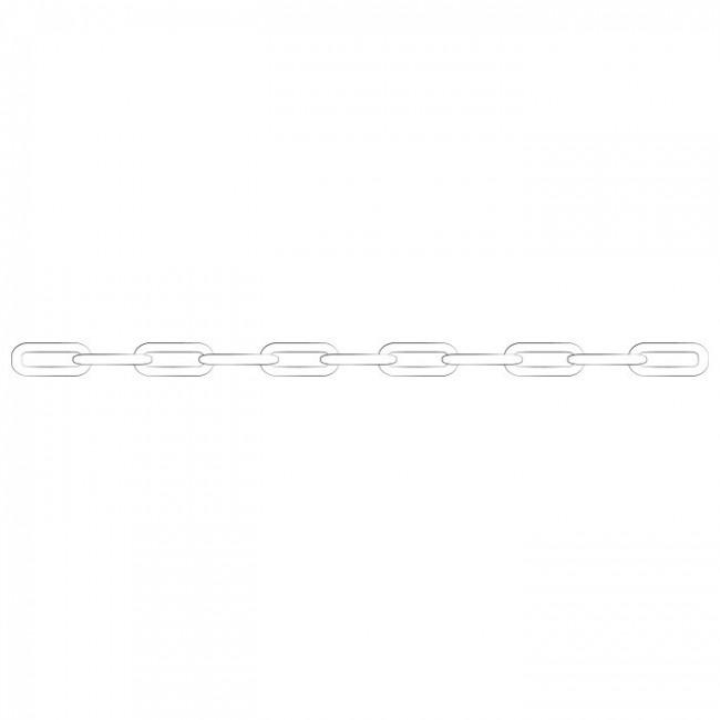 Chaine forçat or blanc 40cm