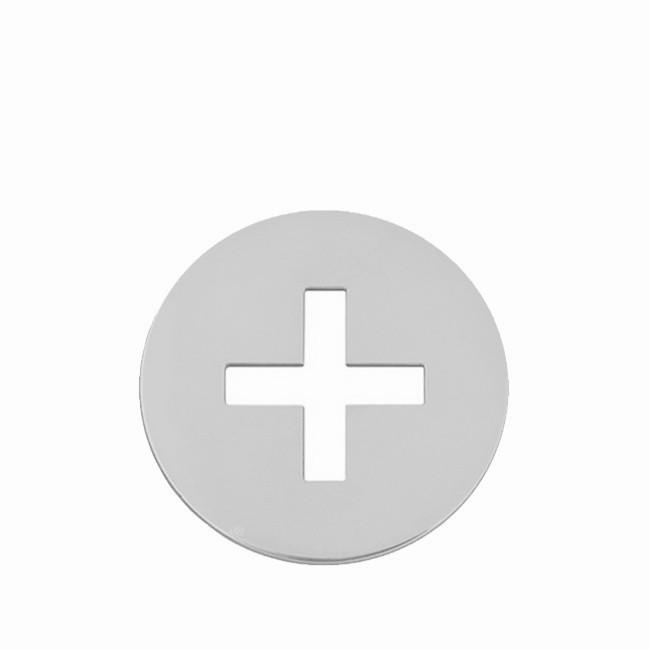 Pendentif croix latine or blanc