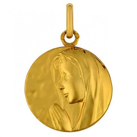 Médaille Vierge de Profil Voile Poli