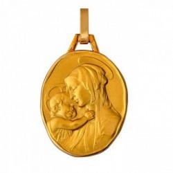 Médaille ovale Vierge à l'enfant