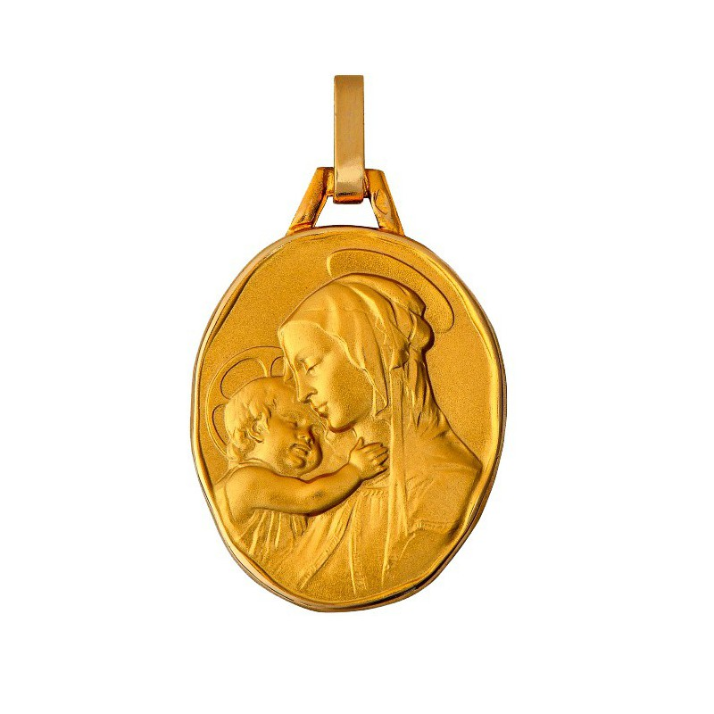 Medaille ovale Vierge a l'enfant