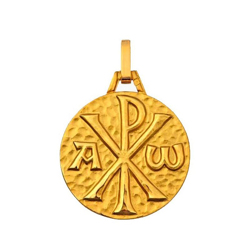 Médaille Chrisme martelé