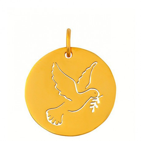 Medaille colombe ajouree