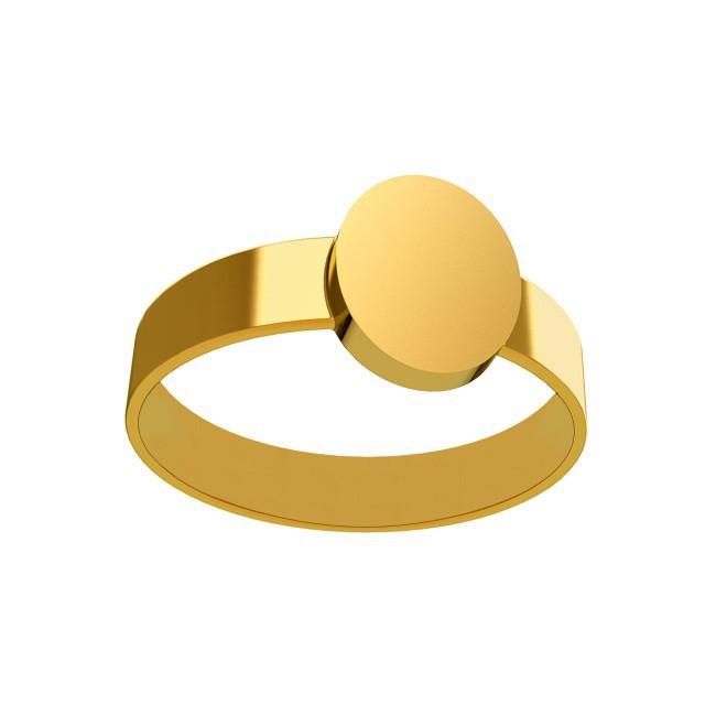 Chevalière anneau plat femme 9*11