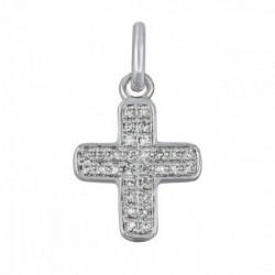 Croix baby cross or blanc et diamants