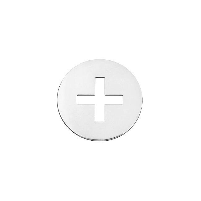 Mini croix latine or blanc