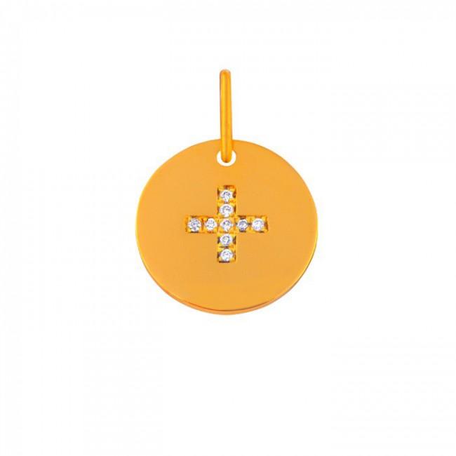 Mini croix latine et diamants
