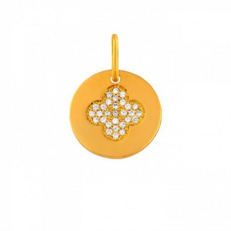 Mini croix romane et diamants
