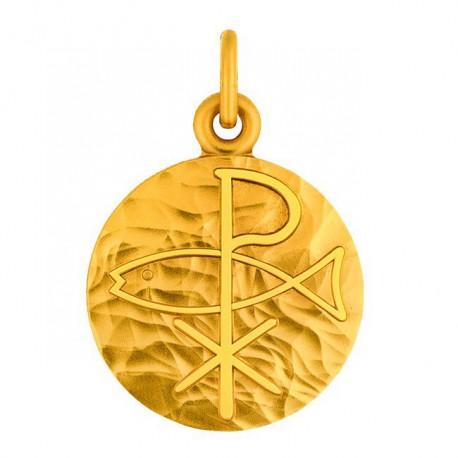 Médaille Ichtus martelé
