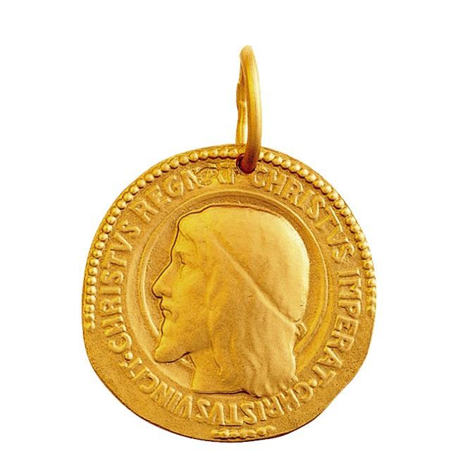 Médaille christ roi simple face