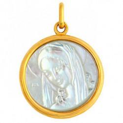 Médaille Ancilla Domini nacre