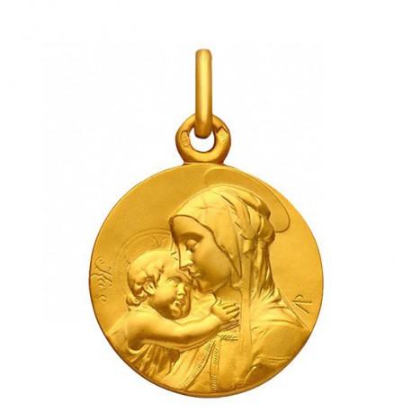 Médaille Vierge à l'enfant 16mm