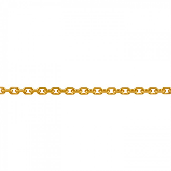 Chaine or maille forçat 45cm